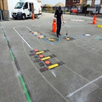 Playground Games Markings in Aiketgate 7