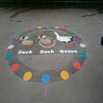 Key Stage One Playground Games in Povey Cross 3