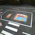 Play Area Markings in Aberavon 3