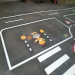 Playground Games Markings in Arddleen/Arddl 2