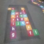 Play Area Markings in Calbourne 1