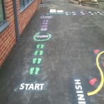Key Stage 3 Playground Games in Aber-Gi 2