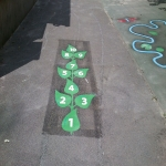Playground Games Markings in Anchorage Park 4