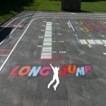 Playground Games Markings in Abermagwr 2