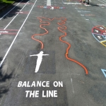 Key Stage 3 Playground Games in Abune-the-hill 3