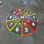 Playground Games Markings in Arddleen/Arddl 8