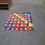 Playground Games Markings in Arddleen/Arddl 10