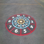 Play Area Markings in Lupridge 7