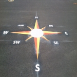 Playground Games Markings in Arddleen/Arddl 5