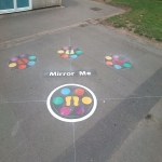 Community Park Surface Marking in Aberkenfig 1