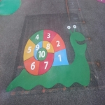 Key Stage One Playground Games in Wick Hill 9