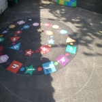 Key Stage One Playground Games in Aston Sq 8