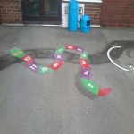 Playground Games Markings in Arddleen/Arddl 4
