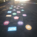 Playground Games Markings in Acton Reynald 5