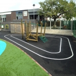 KS2 Play Area Games in Auchentiber 8