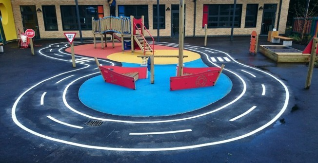 KS1 Play Area Games in Povey Cross