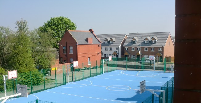 Netball Court Surfacing in Aber Village