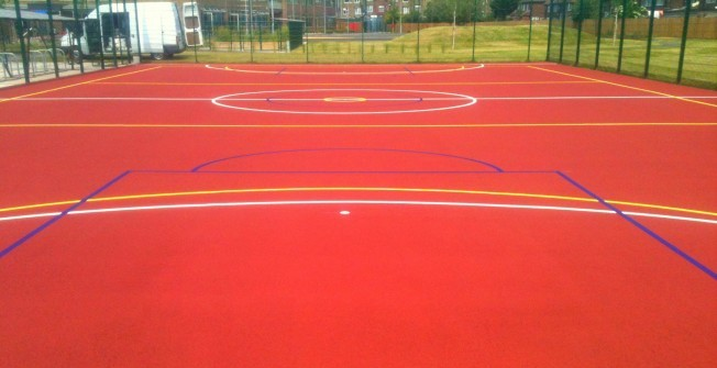 Sport Surface Painting in High Cogges
