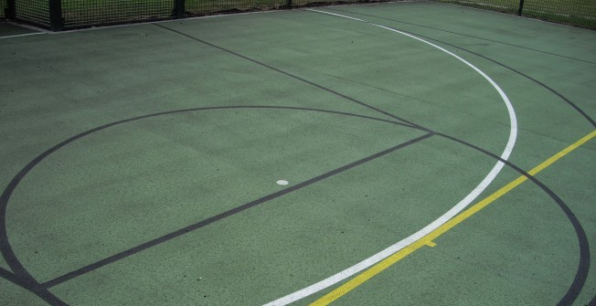 MUGA Court Markings in Acton Trussell