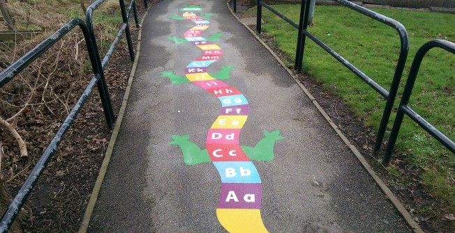 School Playground Markings in Lower Morton