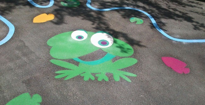 Under 5s Playground Graphics in Barton on Sea