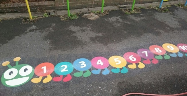 Children's Activity Floor Marking in East Renfrewshire