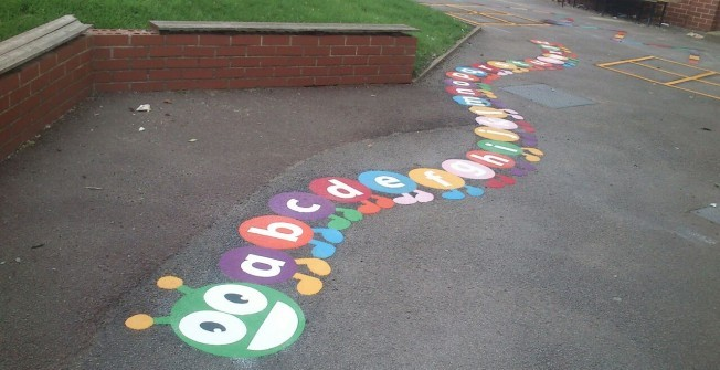 Preschool Playground Markings in Ale Oak