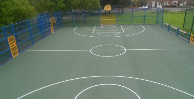 Playground Netball Area in Melin Caiach