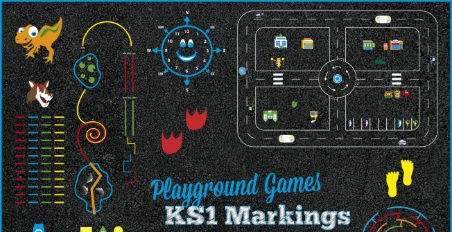 KS1 Playground Markings in The Node