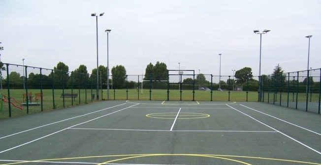MUGA Netball Surfacing in Aber Village