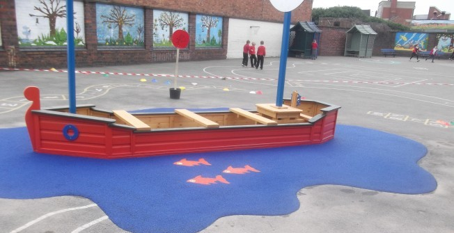 KS2 Play Surface Design in Auchentiber